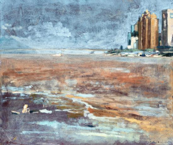 《江心屿即景之一》 布面油画 54×65cm 2018年