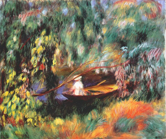 《小艇》The Skiff,1880. 皮埃尔.雷诺阿