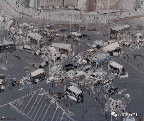 城市的命运之九 100x120cm 2014年