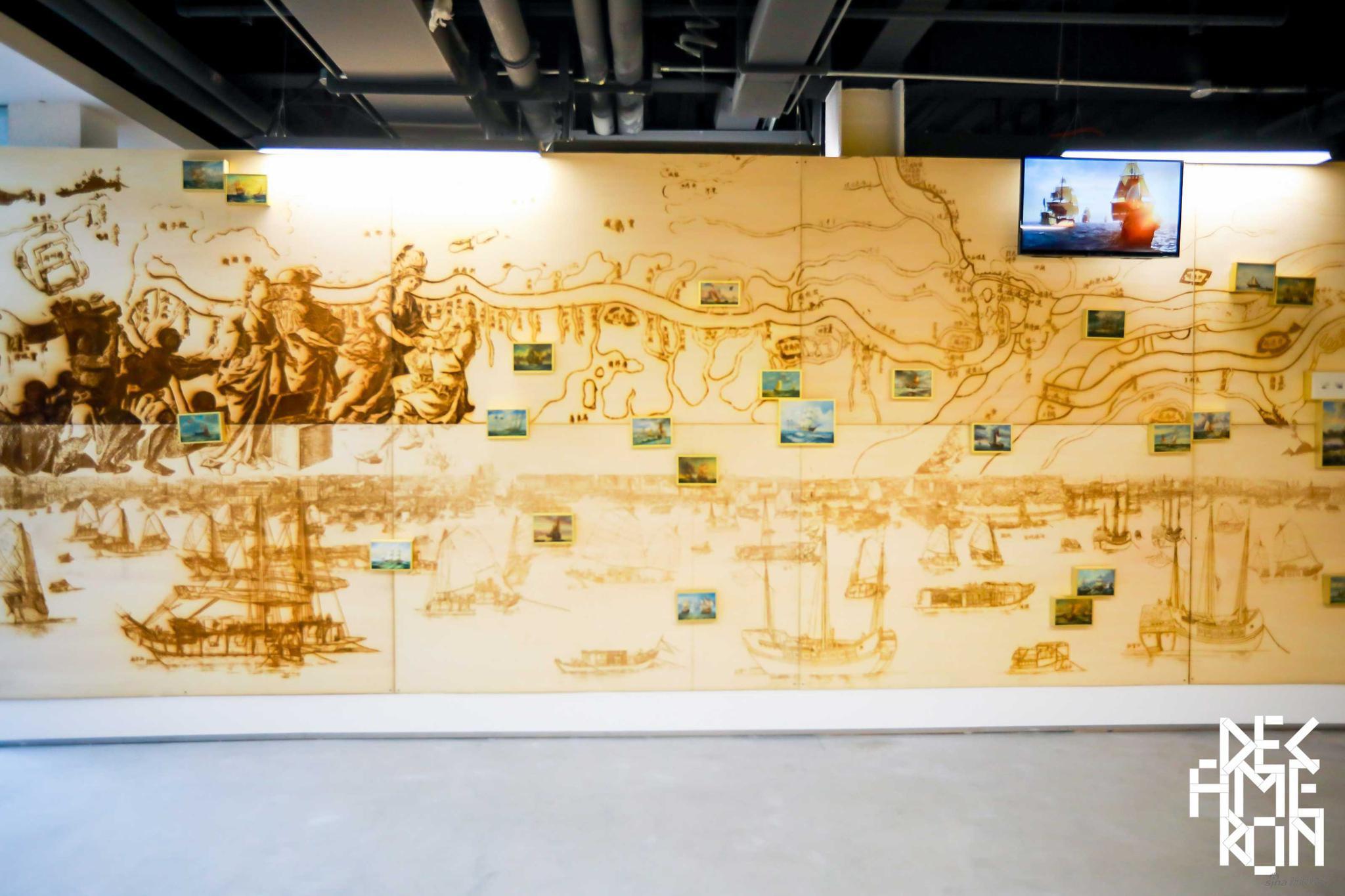 张钊瀛+沈沐阳 《运河·东方戏法》 木版激光雕刻、绘画、综合材料、影像 尺寸可变 2018-2020