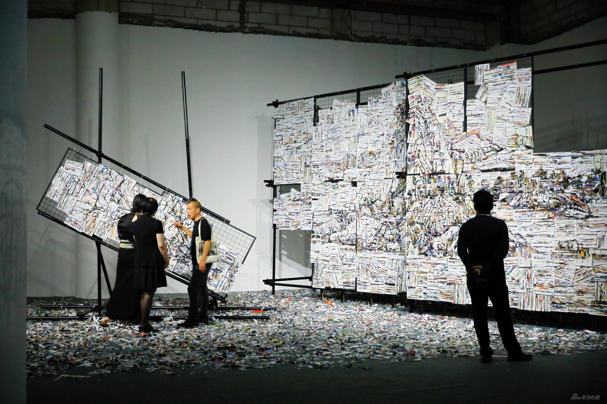《移山》李枪,2020,6mX3.5m