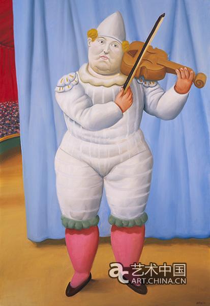 小丑(2008),布面油画