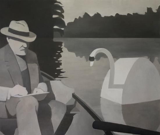 马蒂斯与天鹅 110x130cm 布面油画 2016