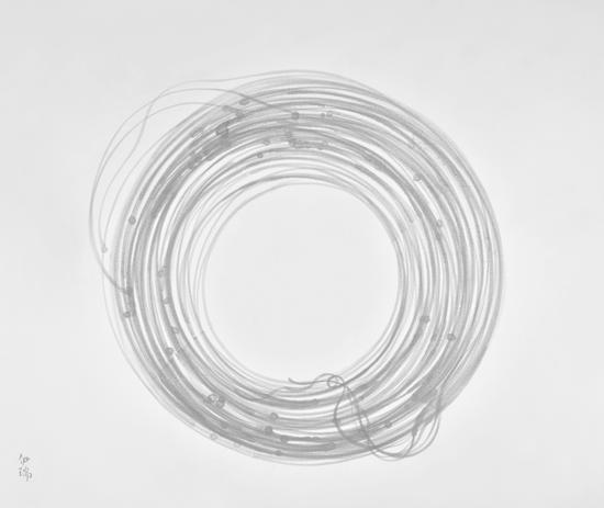 伊瑞 《钢筋》 215x184cm 宣纸水墨 2015年