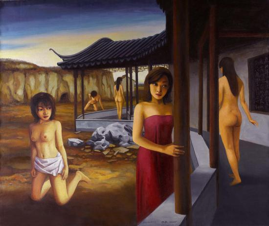 后园·无处告别The backyard, nowhere to be found130x110cm 2005年