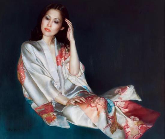 陈逸飞 预言者 布面 油画117×137.5 cm