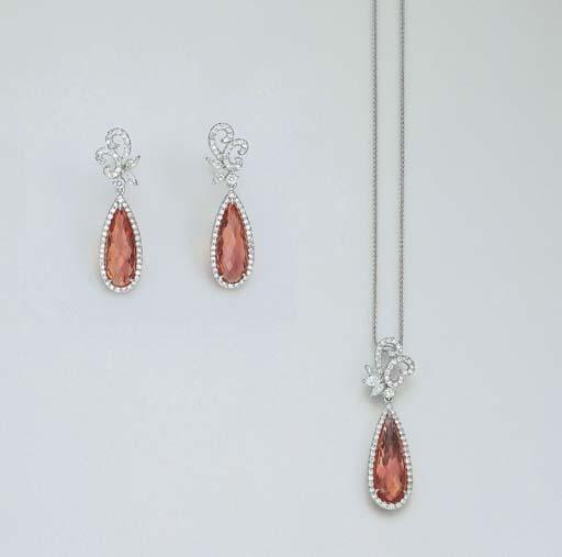 2004年佳士得拍卖会上的帝王托帕镶钻首饰,以1.2万美元成交