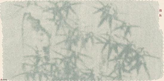 南溪 墨竹C 设色纸本 70cmx140cm 2016