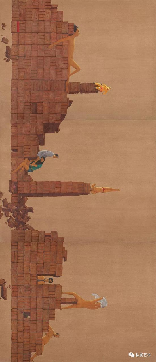 刘智峰 《城 》(油画,侧面)
