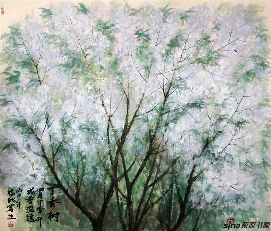 《丁香》117×136cm