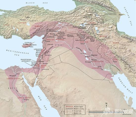 亞述帝國地圖(圖片來自大英博物館)