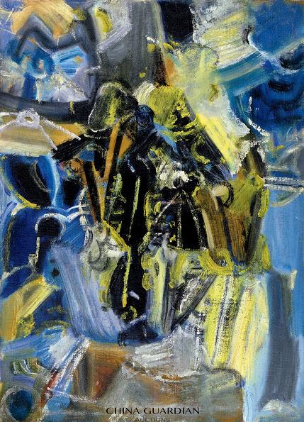 吴大羽  黄色谱韵  1980 年代  布面 油画 裱于木板  54.5×39.5 cm