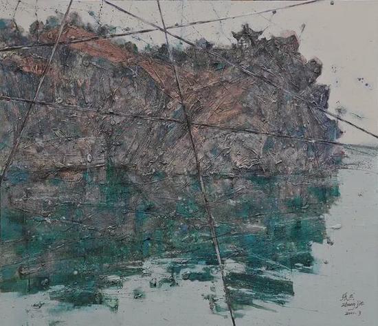 张杰《被切割的风景》之二 150cm×130cm 油画 2011