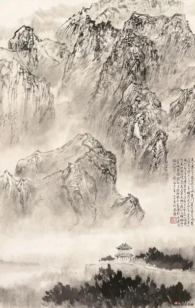 金志远 天下第一关,1978,64×46.5cm,纸本水墨,中国画