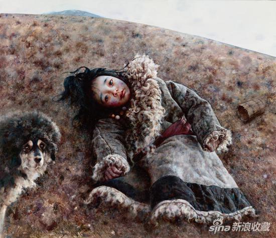 艾轩《隼在上空飞》布面油画 130×150cm 2018年
