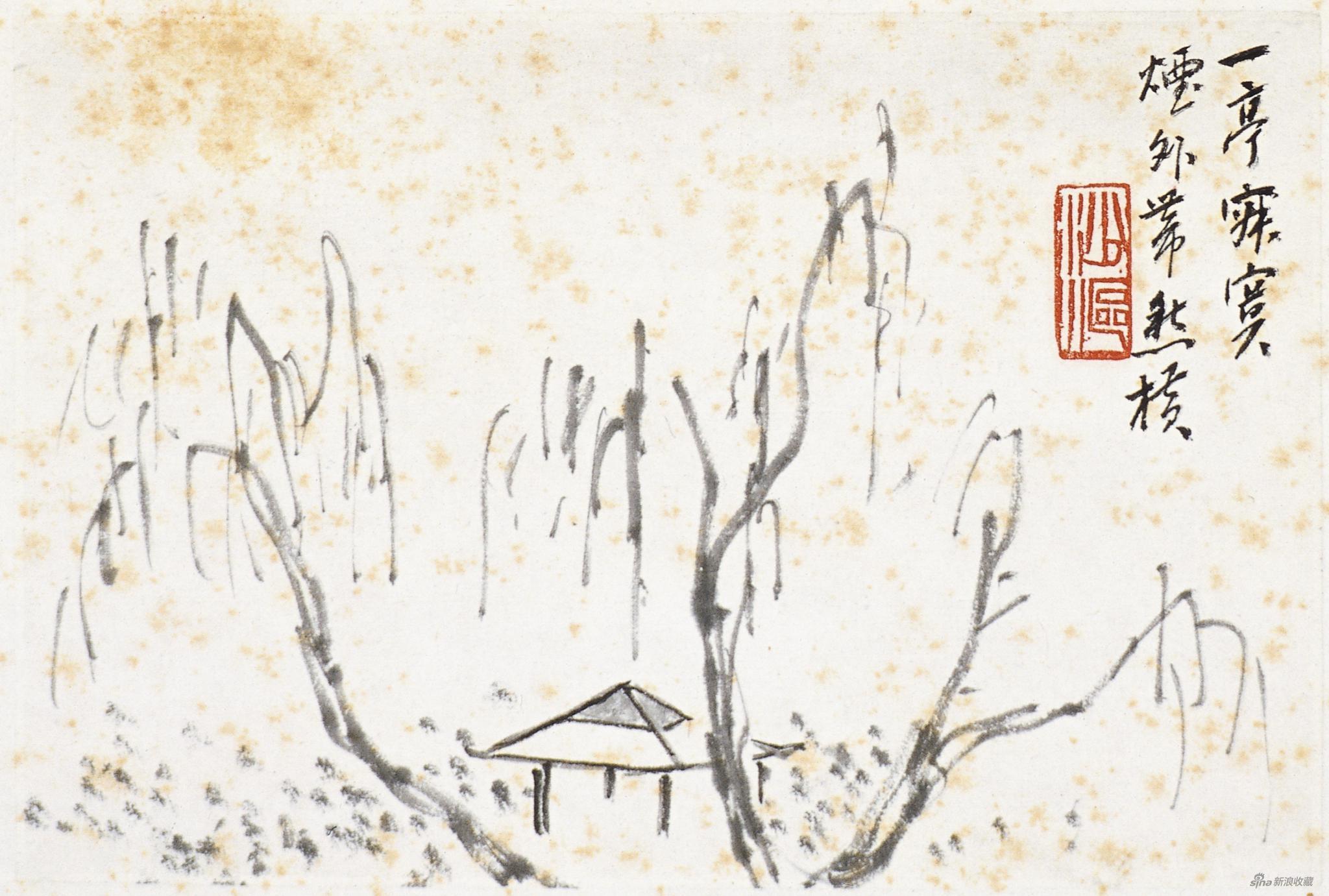 陈师曾写白石词意图册十二 陈师曾 1917年 11.5×17cm 纸本水墨 中央美术学院美术馆藏