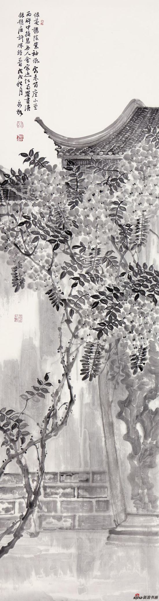 绿蔓秾荫紫 180cm×48cm 2018