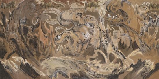 刘巨德 《胡杨魂》-250X501cm-水墨纸本设色-2017年