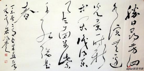 冯奎作品-胜日寻芳-137x69cm