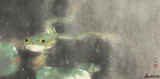 青蛙 设色纸本 28×90cm