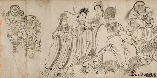 [唐]吴道子《送子天王图》(局部)