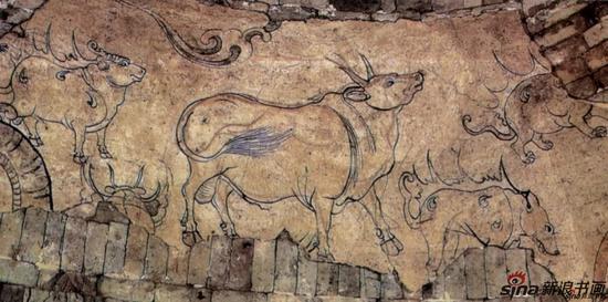 [北齐]公牛与神兽图