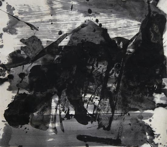 蓝正辉, E88, 纸本水墨, 59×68cm, 2013年
