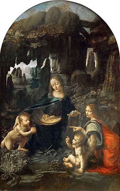 达芬奇,《岩间圣母》,卢浮宫藏