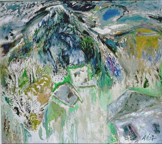 2《牛山·春回》陈天龙 160cm×180cm 布面油画 2009年