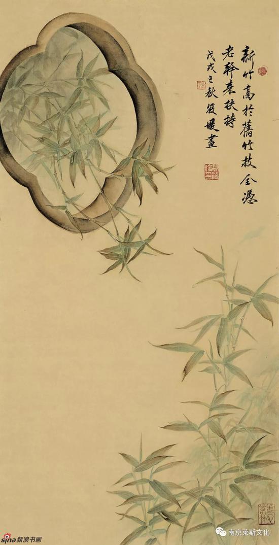 筱竹图 67cm×34cm