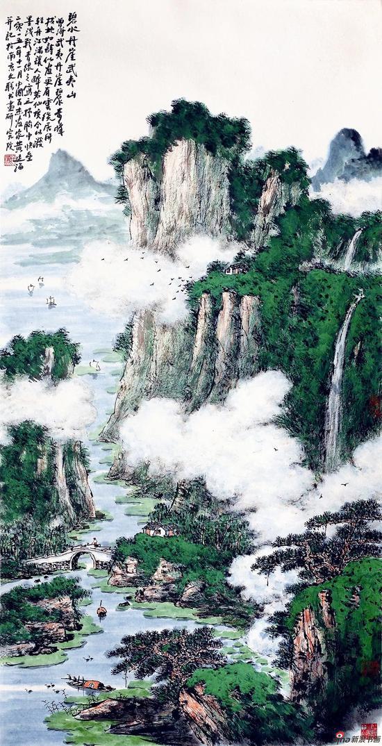 碧水丹崖武夷山(136×69厘米,2015年)
