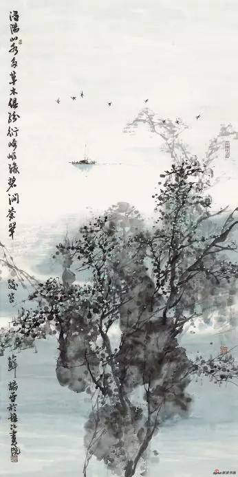 《山水江南》 138cm×69cm 杨 雷 江苏省中国画学会常务理事