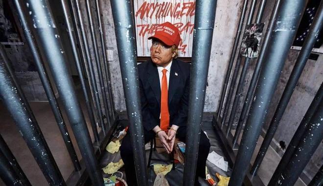 无政府主义艺术团体把特朗普酒店套房变身牢房