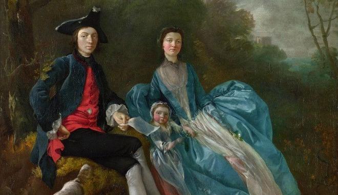 18世纪女权主义之父庚斯博罗的家庭画像