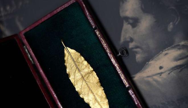 拿破仑皇冠上一片金叶将展出 此前为中国买家拍得