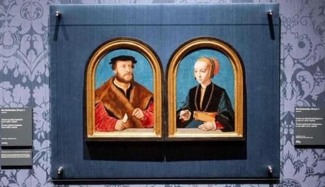 分离125年 一对文艺复兴时期夫妇画像合璧