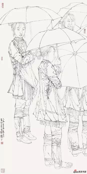 《黔东南写生之一》 139cm×70cm   徐惠泉