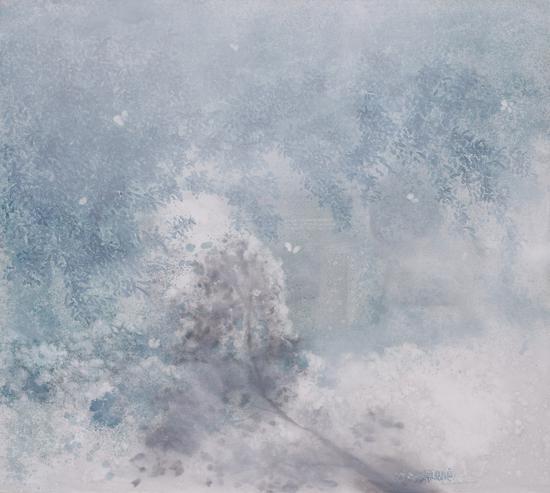 李瑞《细雨-忽晴忽落》200x180cm 布面油画 2015s