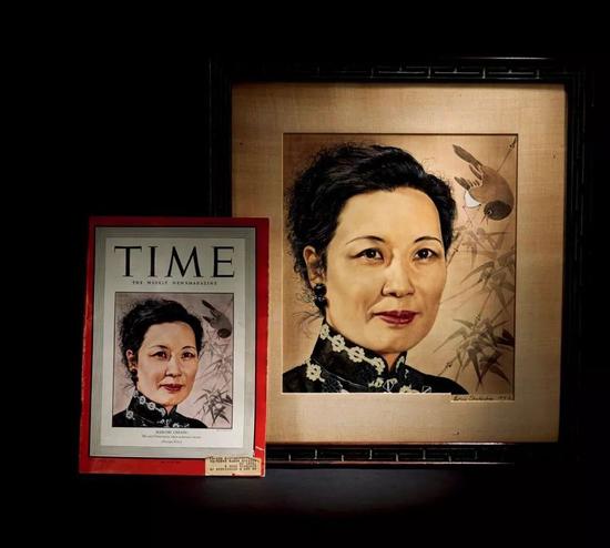 鲍里斯·夏里亚宾 1943 年《时代周刊》封面宋美龄肖像 27×31 cm