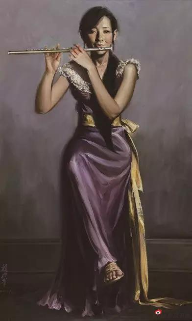 《短笛》76X123 油画