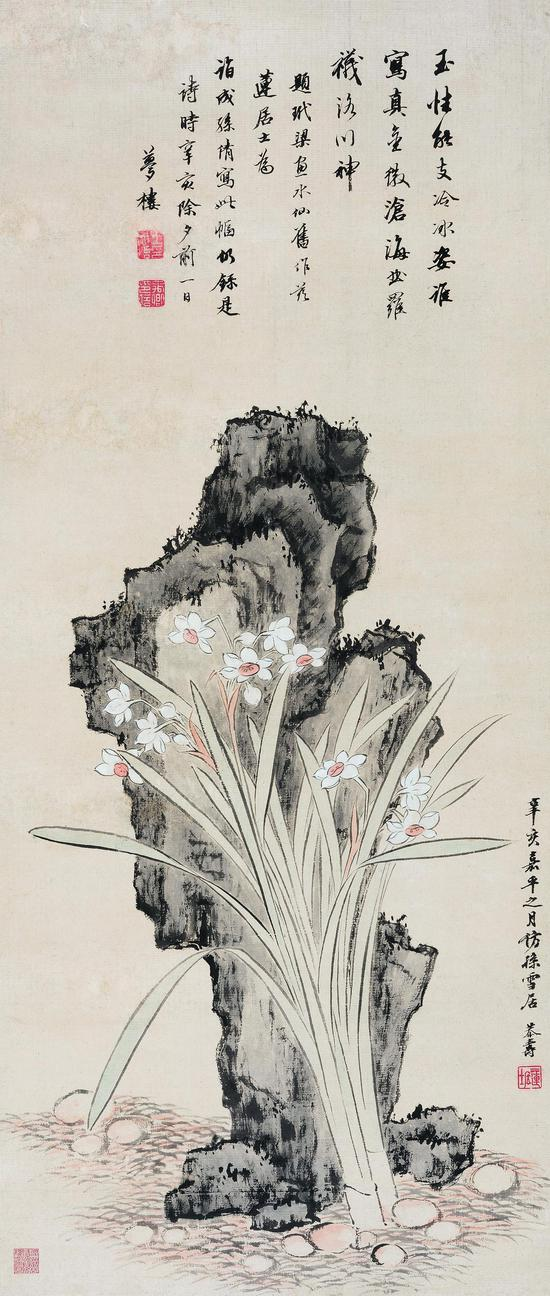 潘恭寿《水仙图》
