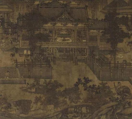 五代《闸口盘车图卷》 上海博物馆提供