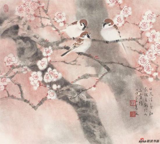 《鸟鹊影枝》