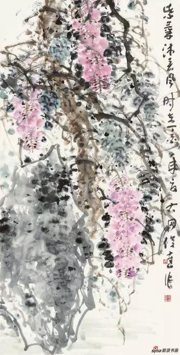 《紫气沐春风》 136cm×70cm   吴俊达