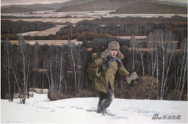 刘孔喜《青春纪事之二十四—1977,我的高考》木板·坦培拉绘画99.3cmx149cm 2014-2016年