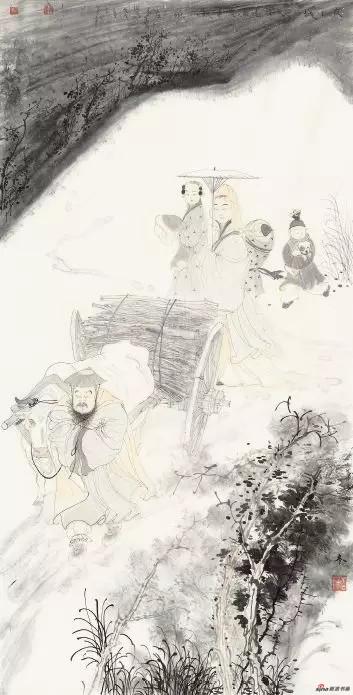 《冬》 137cm×70cm 安玉民 江苏省中国画学会常务理事