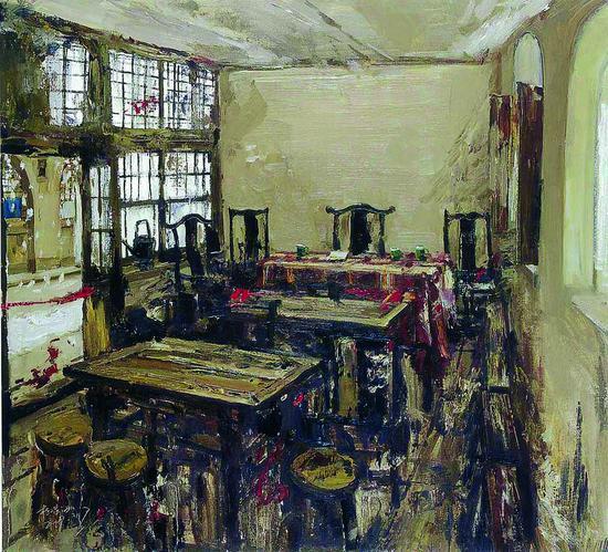 69《家园之一》陈树东 100cm×110cm 布面油画 2009年