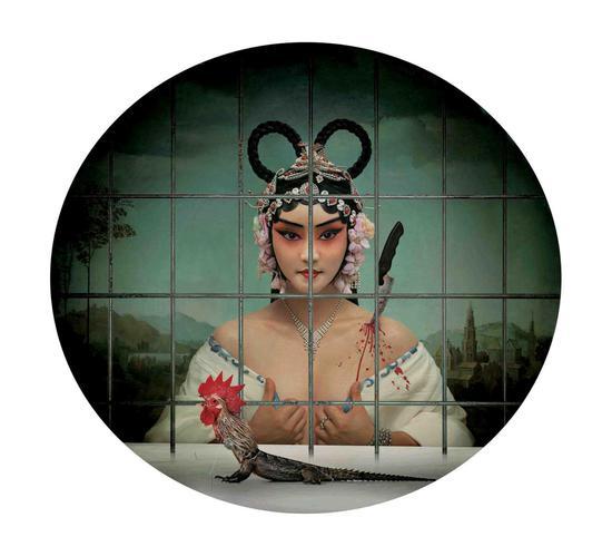 《闺愁1》艺术微喷 110cm×100cm