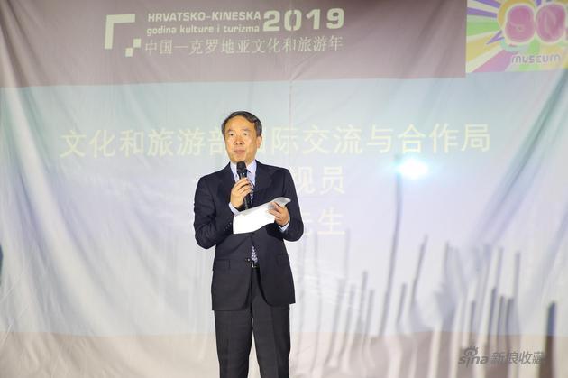 文化和旅游部国际交流与合作局一级巡视员李健钢先生致辞