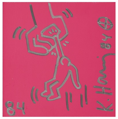 拍品编号:138,凯斯·哈林 (Keith Harring) 无题(被垂吊的男子), 1984年作